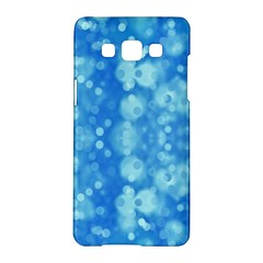 Light Circles, dark and light blue color Samsung Galaxy A5 Hardshell Case