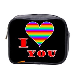 I love you Mini Toiletries Bag 2-Side