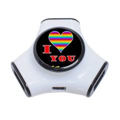 I love you 3-Port USB Hub