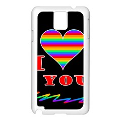 I love you Samsung Galaxy Note 3 N9005 Case (White)