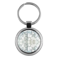 Light Circles, blue gray white colors Key Chains (Round)