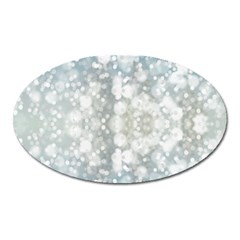 Light Circles, blue gray white colors Oval Magnet
