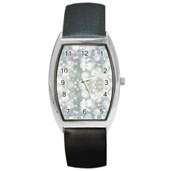 Light Circles, blue gray white colors Barrel Style Metal Watch