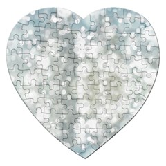 Light Circles, blue gray white colors Jigsaw Puzzle (Heart)