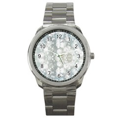 Light Circles, blue gray white colors Sport Metal Watch
