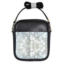 Light Circles, blue gray white colors Girls Sling Bags