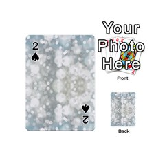Light Circles, blue gray white colors Playing Cards 54 (Mini)