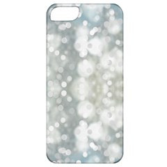Light Circles, blue gray white colors Apple iPhone 5 Classic Hardshell Case