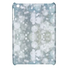 Light Circles, blue gray white colors Apple iPad Mini Hardshell Case