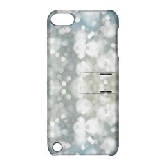 Light Circles, blue gray white colors Apple iPod Touch 5 Hardshell Case with Stand