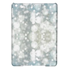 Light Circles, blue gray white colors iPad Air Hardshell Cases