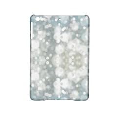 Light Circles, blue gray white colors iPad Mini 2 Hardshell Cases