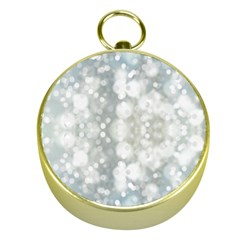 Light Circles, blue gray white colors Gold Compasses