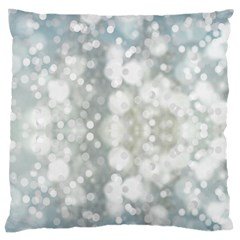 Light Circles, blue gray white colors Large Flano Cushion Case (One Side)