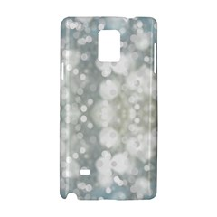 Light Circles, blue gray white colors Samsung Galaxy Note 4 Hardshell Case