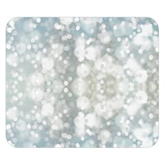 Light Circles, blue gray white colors Double Sided Flano Blanket (Small)