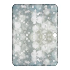 Light Circles, blue gray white colors Samsung Galaxy Tab 4 (10.1 ) Hardshell Case