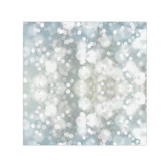 Light Circles, blue gray white colors Small Satin Scarf (Square)