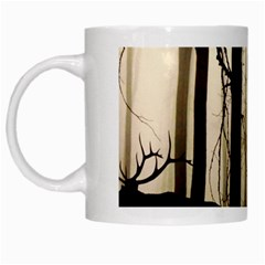 Forest Fog Hirsch Wild Boars White Mugs