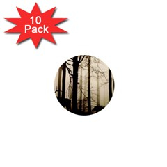 Forest Fog Hirsch Wild Boars 1  Mini Buttons (10 pack)