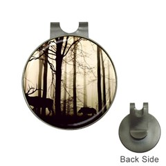 Forest Fog Hirsch Wild Boars Hat Clips with Golf Markers