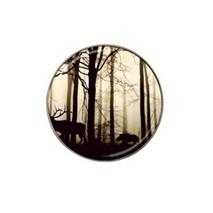 Forest Fog Hirsch Wild Boars Hat Clip Ball Marker (10 pack)