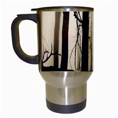 Forest Fog Hirsch Wild Boars Travel Mugs (White)