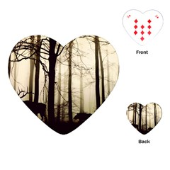 Forest Fog Hirsch Wild Boars Playing Cards (Heart)