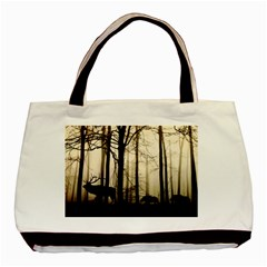 Forest Fog Hirsch Wild Boars Basic Tote Bag (Two Sides)