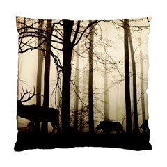 Forest Fog Hirsch Wild Boars Standard Cushion Case (One Side)