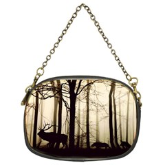 Forest Fog Hirsch Wild Boars Chain Purses (Two Sides)