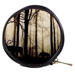 Forest Fog Hirsch Wild Boars Mini Makeup Bags