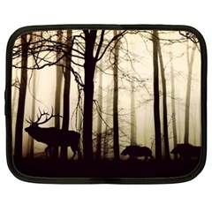 Forest Fog Hirsch Wild Boars Netbook Case (XXL)