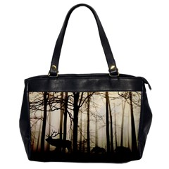 Forest Fog Hirsch Wild Boars Office Handbags
