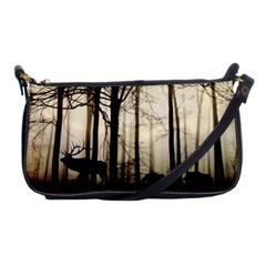 Forest Fog Hirsch Wild Boars Shoulder Clutch Bags