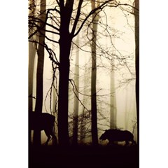 Forest Fog Hirsch Wild Boars 5.5  x 8.5  Notebooks