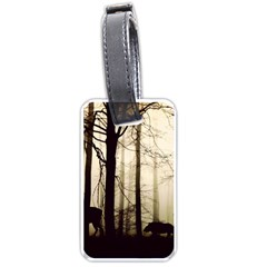 Forest Fog Hirsch Wild Boars Luggage Tags (Two Sides)