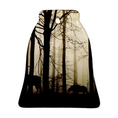 Forest Fog Hirsch Wild Boars Bell Ornament (2 Sides)