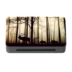 Forest Fog Hirsch Wild Boars Memory Card Reader with CF