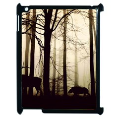 Forest Fog Hirsch Wild Boars Apple iPad 2 Case (Black)