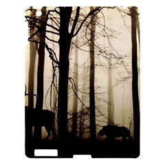 Forest Fog Hirsch Wild Boars Apple iPad 3/4 Hardshell Case