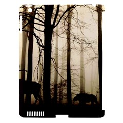 Forest Fog Hirsch Wild Boars Apple iPad 3/4 Hardshell Case (Compatible with Smart Cover)