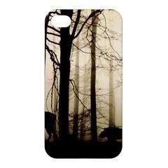 Forest Fog Hirsch Wild Boars Apple iPhone 4/4S Premium Hardshell Case