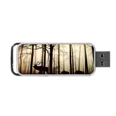Forest Fog Hirsch Wild Boars Portable USB Flash (Two Sides)