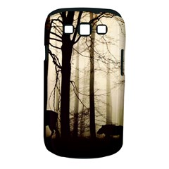 Forest Fog Hirsch Wild Boars Samsung Galaxy S III Classic Hardshell Case (PC+Silicone)