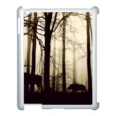 Forest Fog Hirsch Wild Boars Apple iPad 3/4 Case (White)