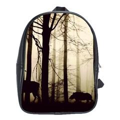 Forest Fog Hirsch Wild Boars School Bags (XL)
