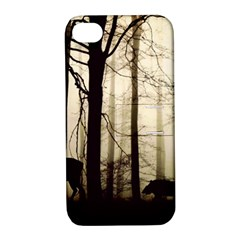 Forest Fog Hirsch Wild Boars Apple iPhone 4/4S Hardshell Case with Stand