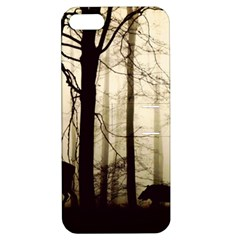 Forest Fog Hirsch Wild Boars Apple iPhone 5 Hardshell Case with Stand