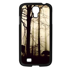 Forest Fog Hirsch Wild Boars Samsung Galaxy S4 I9500/ I9505 Case (Black)
